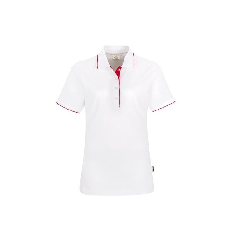 c5e29394cb0203 Koszulki Polo - Damska koszulka polo Casual 203 - Hakro 203 - White - RAVEN  -