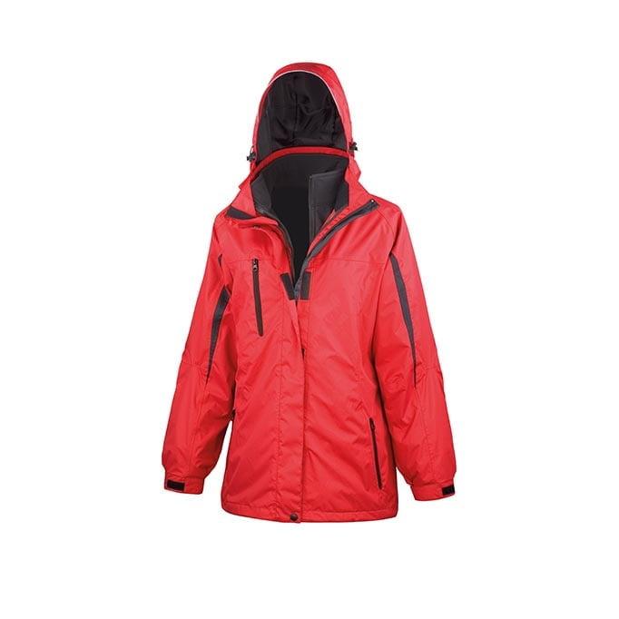 Kurtki - Ladies` 3 in 1 Softshell Journey Jacket - R400F - Red - RAVEN - koszulki reklamowe z nadrukiem, odzież reklamowa i gastronomiczna