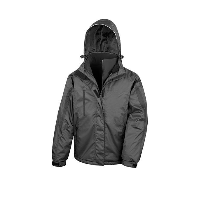 Kurtki - Men`s 3 in 1 Softshell Journey Jacket - R400M - Black - RAVEN - koszulki reklamowe z nadrukiem, odzież reklamowa i gastronomiczna