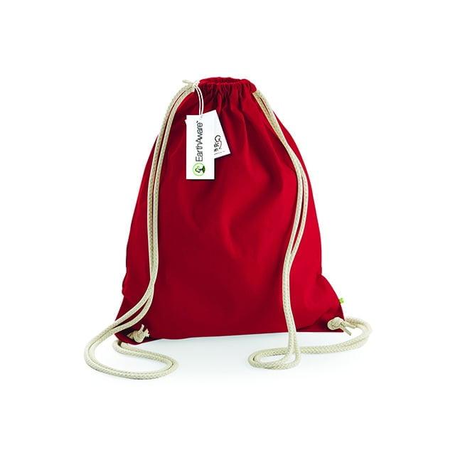 Torby i plecaki - Worek z bawełny organicznej EarthAware™ - W810 - Classic Red - RAVEN - koszulki reklamowe z nadrukiem, odzież reklamowa i gastronomiczna
