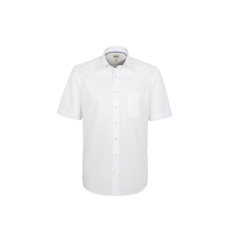 Dopasowana bluzka biznesowa z krótkim rękawem 107