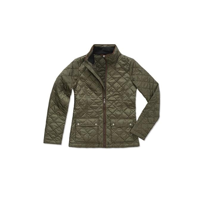 Kurtki - Damska pikowana kurtka Active - ST5360 - Military Green - RAVEN - koszulki reklamowe z nadrukiem, odzież reklamowa i gastronomiczna