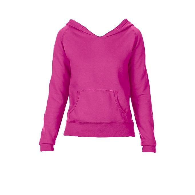 Bluzy - Damska bluza Hooded CC - Comfort Colors 1595 - Neon Pink - RAVEN - koszulki reklamowe z nadrukiem, odzież reklamowa i gastronomiczna