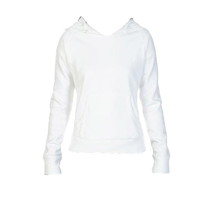 Bluzy - Damska bluza Hooded CC - Comfort Colors 1595 - White - RAVEN - koszulki reklamowe z nadrukiem, odzież reklamowa i gastronomiczna