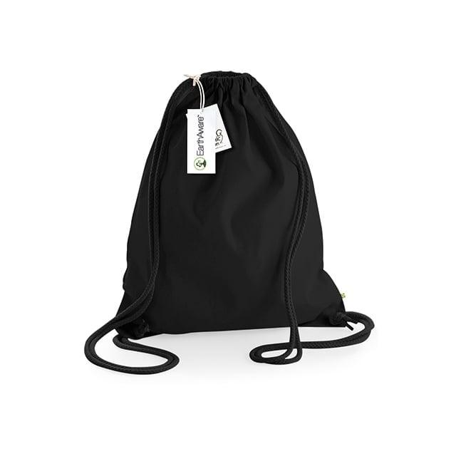 Torby i plecaki - Worek z bawełny organicznej EarthAware™ - W810 - Black/Black - RAVEN - koszulki reklamowe z nadrukiem, odzież reklamowa i gastronomiczna