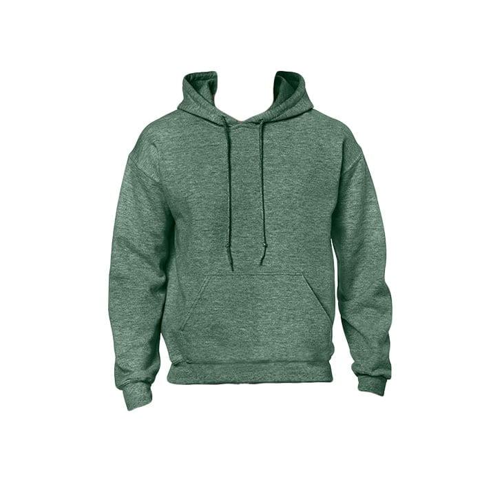 Bluzy - Bluza z kapturem Heavy Blend™ - Gildan 18500 - Heather Sport Dark Green - RAVEN - koszulki reklamowe z nadrukiem, odzież reklamowa i gastronomiczna