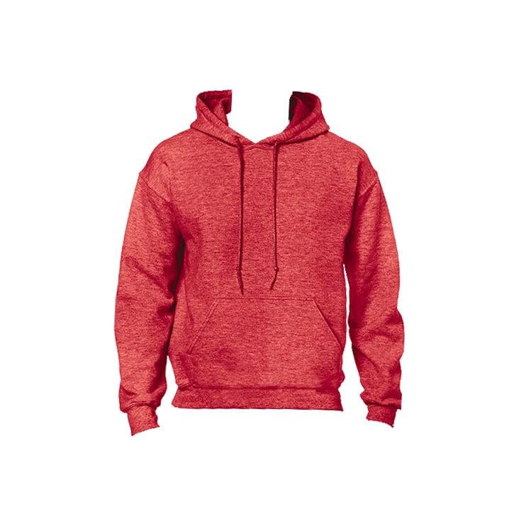 Bluzy - Bluza z kapturem Heavy Blend™ - Gildan 18500 - Heather Sport Scarlet Red - RAVEN - koszulki reklamowe z nadrukiem, odzież reklamowa i gastronomiczna