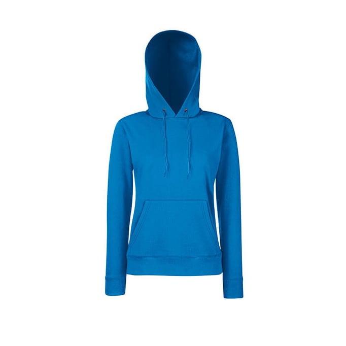 Bluzy - Klasyczna bluza z kapturem Lady-Fit - Fruit of the Loom 62-038-0 - Royal Blue - RAVEN - koszulki reklamowe z nadrukiem, odzież reklamowa i gastronomiczna