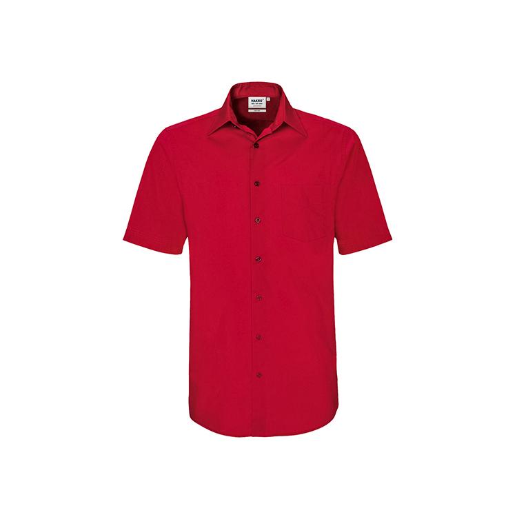 Koszule i bluzki - Koszula performance z krótkimi rękawami 122 - Hakro 122 - Red - RAVEN - koszulki reklamowe z nadrukiem, odzież reklamowa i gastronomiczna