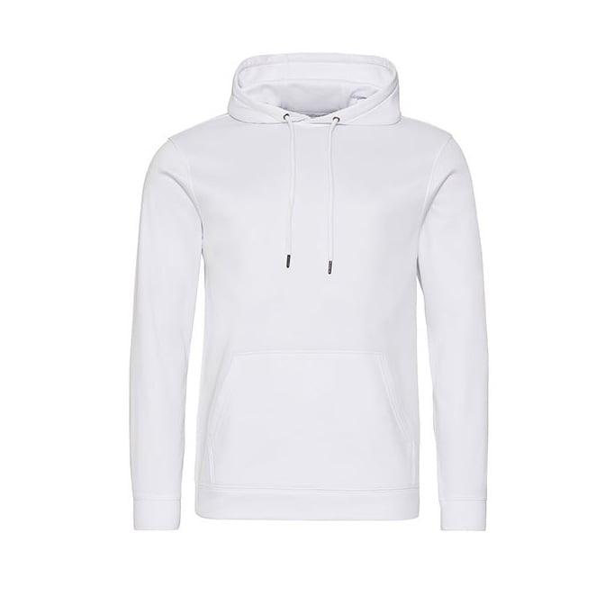 Bluzy - Bluza z kapturem Sport Polyester - Just Hoods JH006 - White - RAVEN - koszulki reklamowe z nadrukiem, odzież reklamowa i gastronomiczna