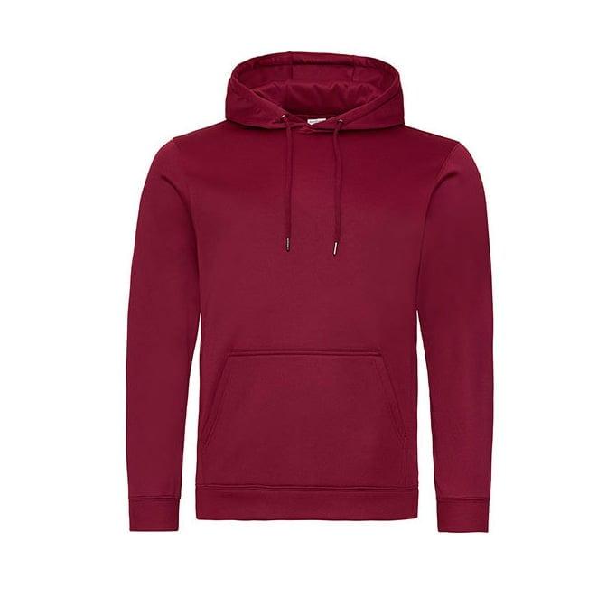 Bluzy - Bluza z kapturem Sport Polyester - Just Hoods JH006 - Burgundy - RAVEN - koszulki reklamowe z nadrukiem, odzież reklamowa i gastronomiczna