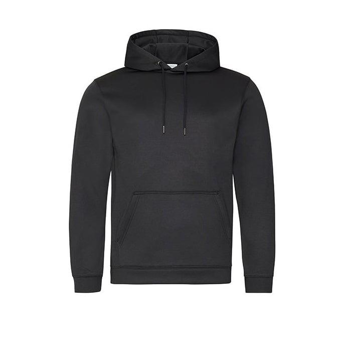 Bluzy - Bluza z kapturem Sport Polyester - Just Hoods JH006 - Black - RAVEN - koszulki reklamowe z nadrukiem, odzież reklamowa i gastronomiczna