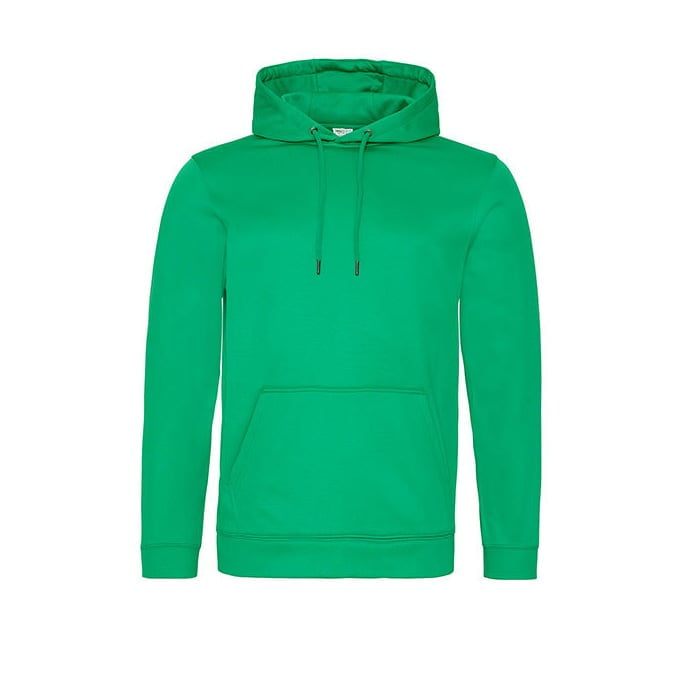 Bluzy - Bluza z kapturem Sport Polyester - Just Hoods JH006 - Kelly Green  - RAVEN - koszulki reklamowe z nadrukiem, odzież reklamowa i gastronomiczna
