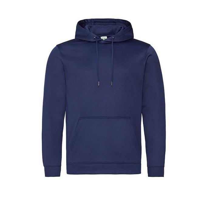 Bluzy - Bluza z kapturem Sport Polyester - Just Hoods JH006 - Oxford Navy - RAVEN - koszulki reklamowe z nadrukiem, odzież reklamowa i gastronomiczna