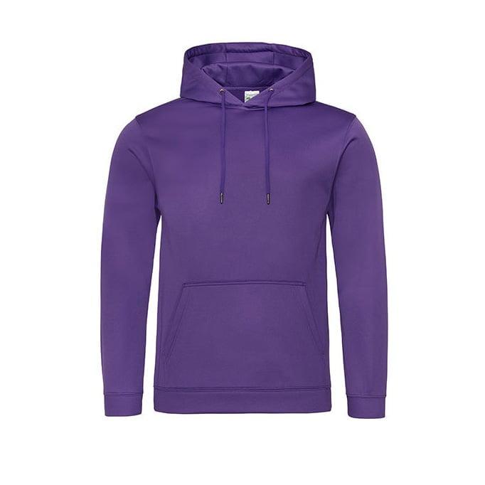 Bluzy - Bluza z kapturem Sport Polyester - Just Hoods JH006 - Purple - RAVEN - koszulki reklamowe z nadrukiem, odzież reklamowa i gastronomiczna
