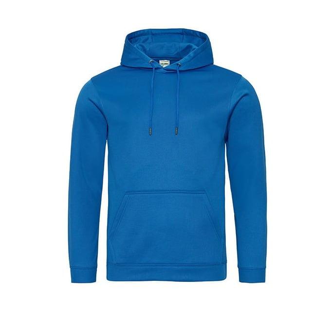 Bluzy - Bluza z kapturem Sport Polyester - Just Hoods JH006 - Royal Blue - RAVEN - koszulki reklamowe z nadrukiem, odzież reklamowa i gastronomiczna