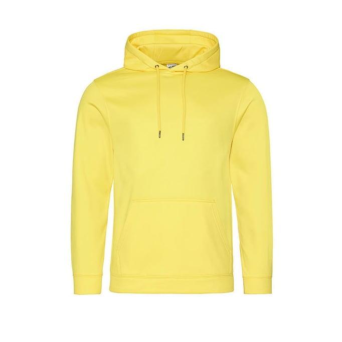 Bluzy - Bluza z kapturem Sport Polyester - Just Hoods JH006 - Sun Yellow - RAVEN - koszulki reklamowe z nadrukiem, odzież reklamowa i gastronomiczna