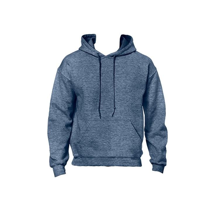 Bluzy - Bluza z kapturem Heavy Blend™ - Gildan 18500 - Heather Sport Dark Navy - RAVEN - koszulki reklamowe z nadrukiem, odzież reklamowa i gastronomiczna