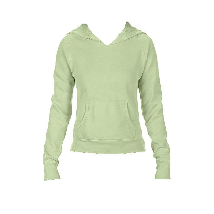 Bluzy - Damska bluza Hooded CC - Comfort Colors 1595 - Celadon - RAVEN - koszulki reklamowe z nadrukiem, odzież reklamowa i gastronomiczna