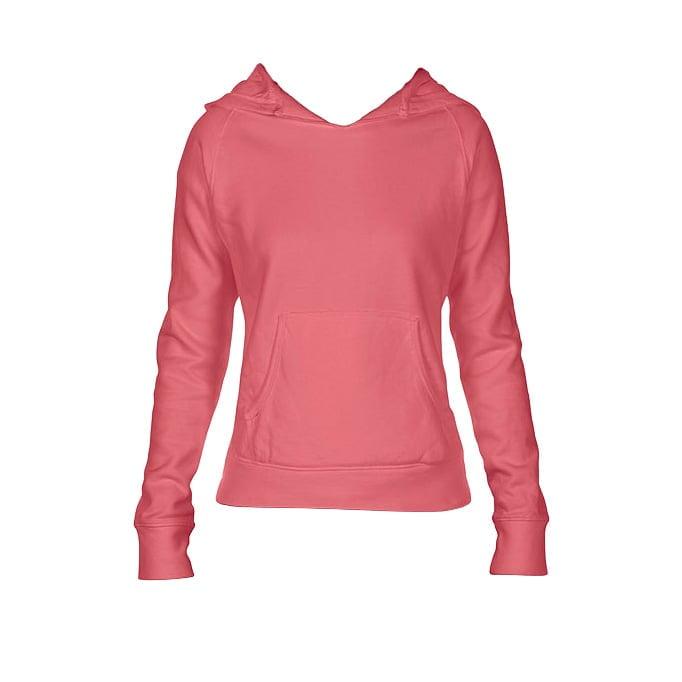 Bluzy - Damska bluza Hooded CC - Comfort Colors 1595 - Watermelon - RAVEN - koszulki reklamowe z nadrukiem, odzież reklamowa i gastronomiczna