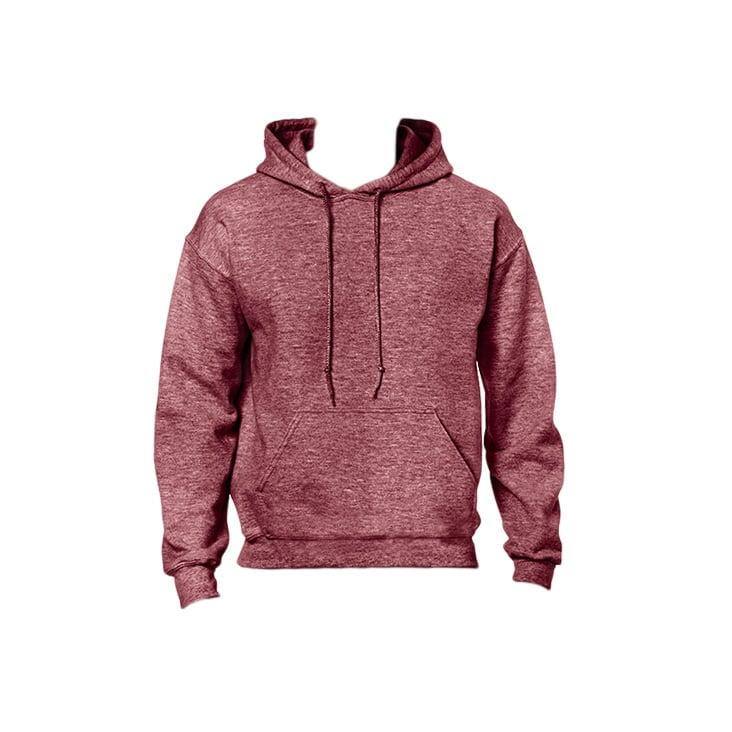 Bluzy - Bluza z kapturem Heavy Blend™ - Gildan 18500 - Heather Sport Dark Maroon - RAVEN - koszulki reklamowe z nadrukiem, odzież reklamowa i gastronomiczna