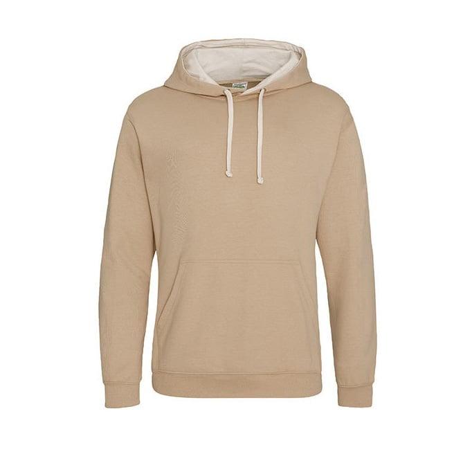 Bluzy - Bluza z kapturem Varsity Hoodie - Just Hoods JH003 - Desert Sun/ Vanilla Milkshake - RAVEN - koszulki reklamowe z nadrukiem, odzież reklamowa i gastronomiczna