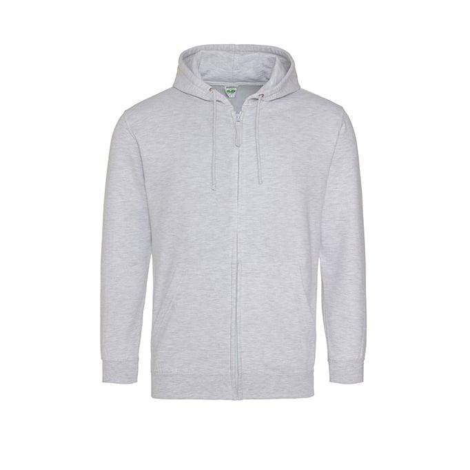 Bluzy - Bluza z kapturem Zoodie - Just Hoods JH050 - Ash (Heather)  - RAVEN - koszulki reklamowe z nadrukiem, odzież reklamowa i gastronomiczna
