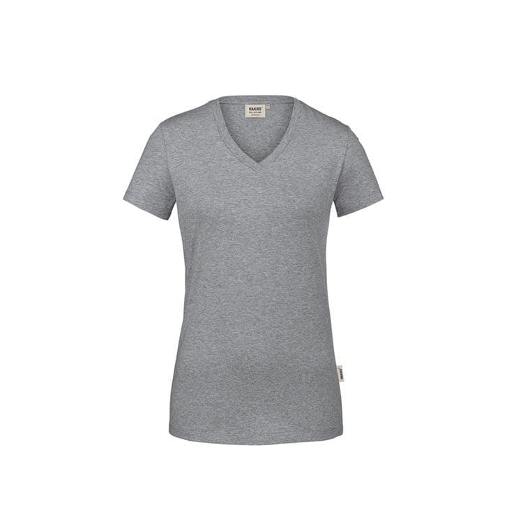 Damski t-shirt w serek ze stretchu 172