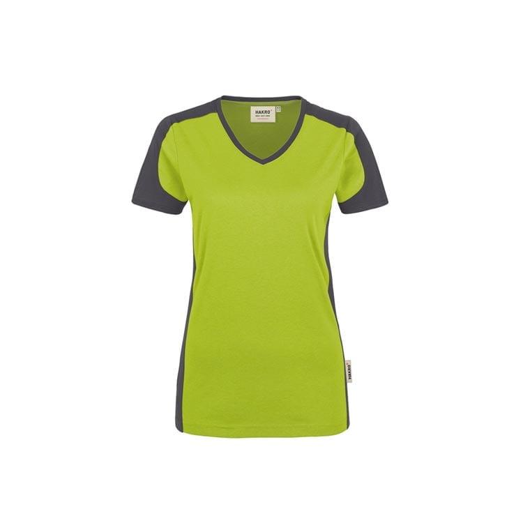 Damski konstrastowy V-Shirt Performance 190