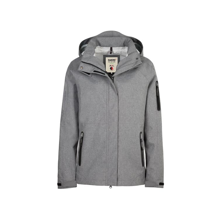 Kurtki - Damska kurtka funkcyjna Fernie 250 - Hakro 250 - Mottled Dark Grey - RAVEN - koszulki reklamowe z nadrukiem, odzież reklamowa i gastronomiczna