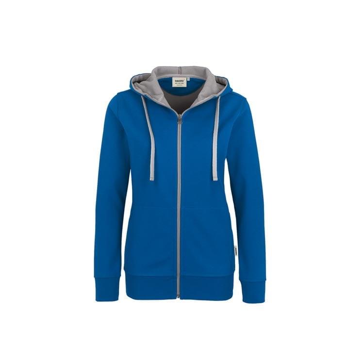 Bluzy - Damska bluza z kapturem 255 - Hakro 255 - Royal Blue - RAVEN - koszulki reklamowe z nadrukiem, odzież reklamowa i gastronomiczna