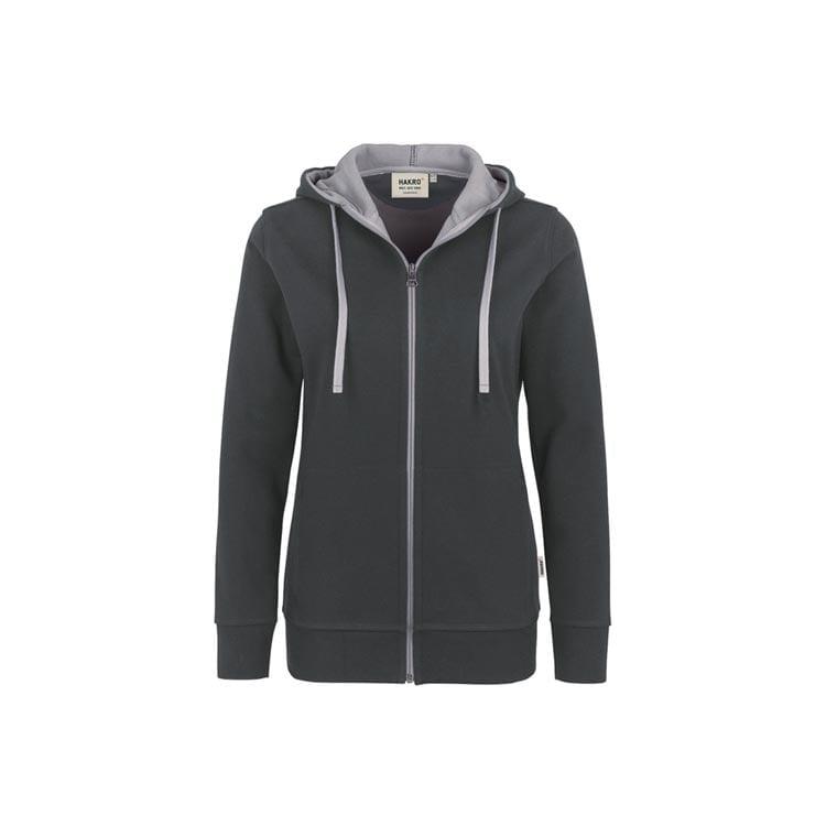 Bluzy - Damska bluza z kapturem 255 - Hakro 255 - Anthracite - RAVEN - koszulki reklamowe z nadrukiem, odzież reklamowa i gastronomiczna