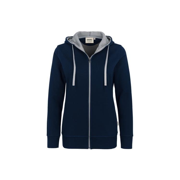 Bluzy - Damska bluza z kapturem 255 - Hakro 255 - Ink Blue - RAVEN - koszulki reklamowe z nadrukiem, odzież reklamowa i gastronomiczna