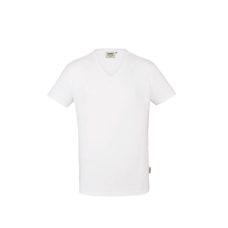Męski t-shirt w serek ze stretchu 272