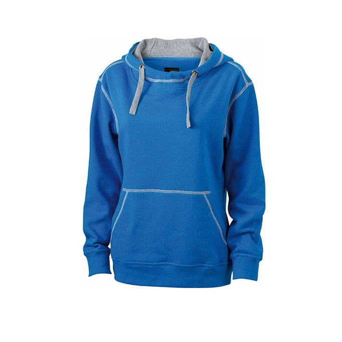 Bluzy - Damska bluza bez zamka Lifestyle - James & Nicholson JN960 - Cobalt - RAVEN - koszulki reklamowe z nadrukiem, odzież reklamowa i gastronomiczna