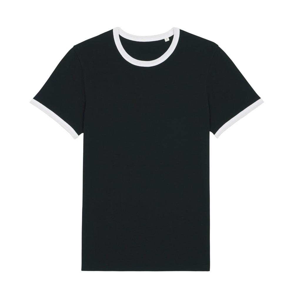 Koszulki T-Shirt - T-shirt Unisex Ringer - STTU827 - White/Black - RAVEN - koszulki reklamowe z nadrukiem, odzież reklamowa i gastronomiczna