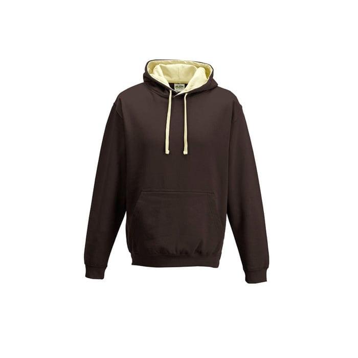 Bluzy - Bluza z kapturem Varsity Hoodie - Just Hoods JH003 - Hot Chocolate/Vanilla Milkshake - RAVEN - koszulki reklamowe z nadrukiem, odzież reklamowa i gastronomiczna