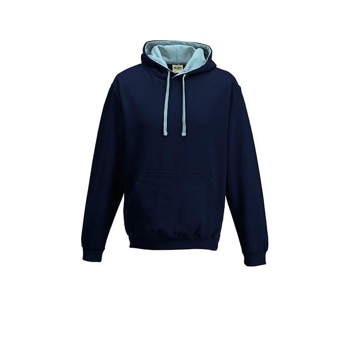 Bluzy - Bluza z kapturem Varsity Hoodie - Just Hoods JH003 - New French Navy/baby Blue - RAVEN - koszulki reklamowe z nadrukiem, odzież reklamowa i gastronomiczna