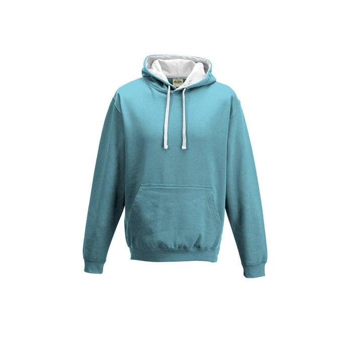 Bluzy - Bluza z kapturem Varsity Hoodie - Just Hoods JH003 - Sky/Blue/Arctic White - RAVEN - koszulki reklamowe z nadrukiem, odzież reklamowa i gastronomiczna