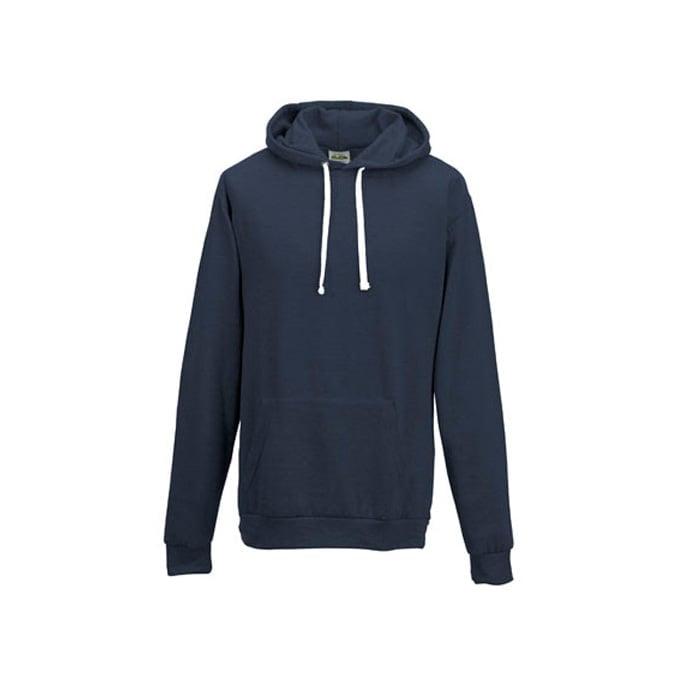 Bluzy - Bluza z kapturem Heather Hoodie - Just Hoods JH008 - Heather Navy - RAVEN - koszulki reklamowe z nadrukiem, odzież reklamowa i gastronomiczna