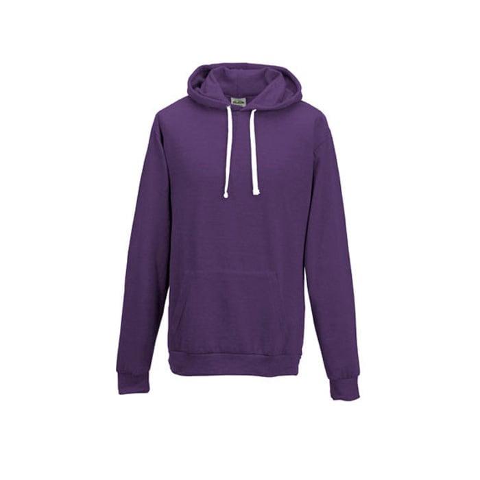 Bluzy - Bluza z kapturem Heather Hoodie - Just Hoods JH008 - Heather Purple - RAVEN - koszulki reklamowe z nadrukiem, odzież reklamowa i gastronomiczna