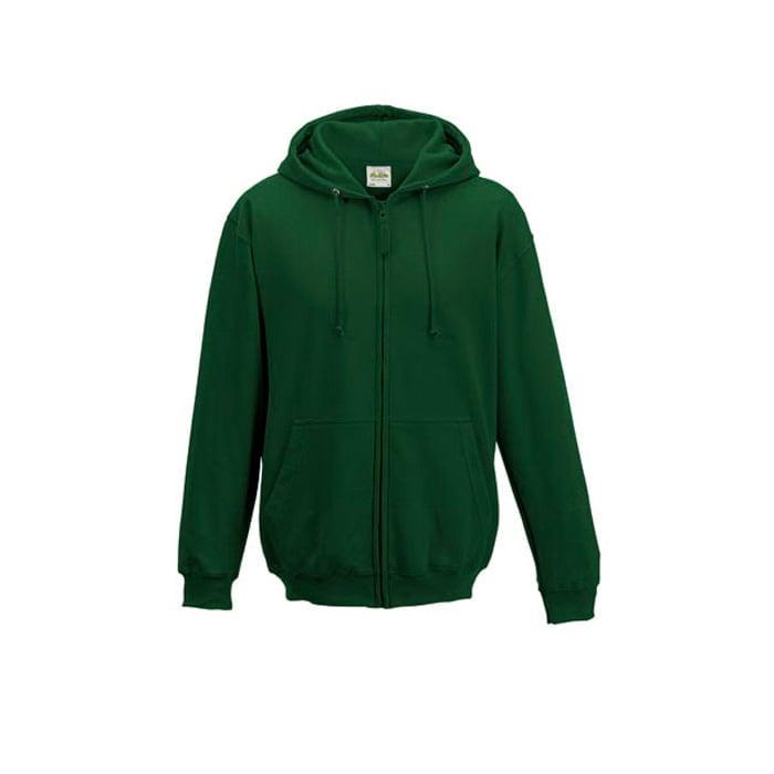 Bluzy - Bluza z kapturem Zoodie - Just Hoods JH050 - Bottle Green - RAVEN - koszulki reklamowe z nadrukiem, odzież reklamowa i gastronomiczna