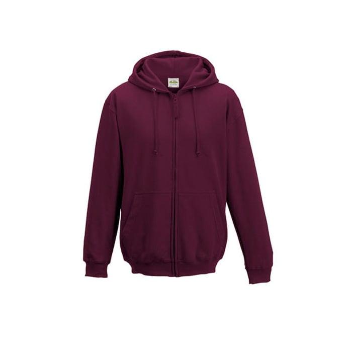 Bluzy - Bluza z kapturem Zoodie - Just Hoods JH050 - Burgundy - RAVEN - koszulki reklamowe z nadrukiem, odzież reklamowa i gastronomiczna