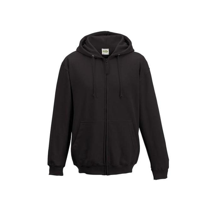 Bluzy - Bluza z kapturem Zoodie - Just Hoods JH050 - Charcoal - RAVEN - koszulki reklamowe z nadrukiem, odzież reklamowa i gastronomiczna
