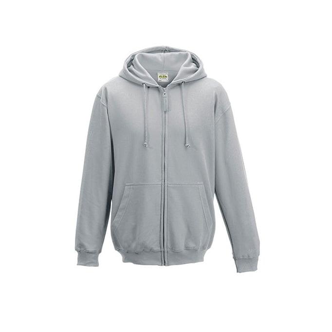 Bluzy - Bluza z kapturem Zoodie - Just Hoods JH050 - Heather Grey - RAVEN - koszulki reklamowe z nadrukiem, odzież reklamowa i gastronomiczna