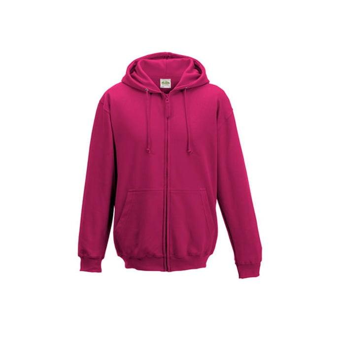 Bluzy - Bluza z kapturem Zoodie - Just Hoods JH050 - Hot Pink - RAVEN - koszulki reklamowe z nadrukiem, odzież reklamowa i gastronomiczna