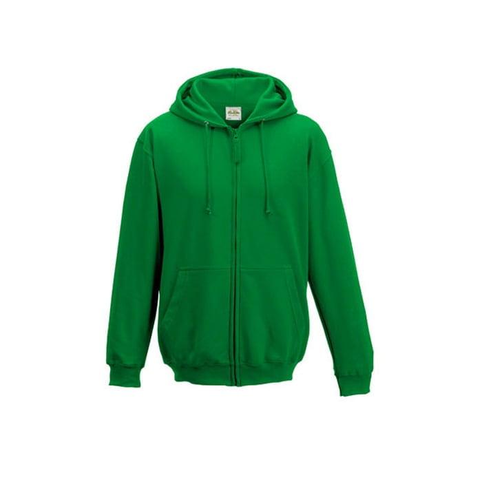 Bluzy - Bluza z kapturem Zoodie - Just Hoods JH050 - Kelly Green  - RAVEN - koszulki reklamowe z nadrukiem, odzież reklamowa i gastronomiczna