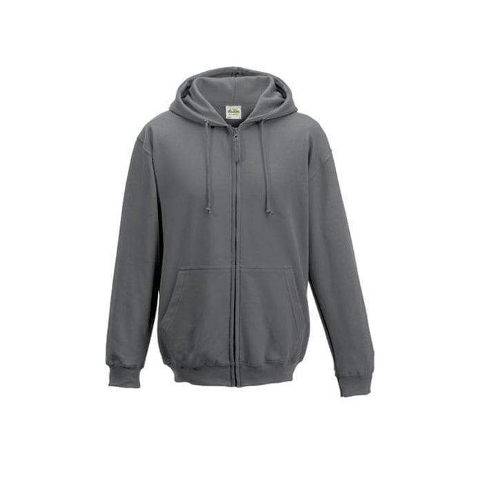 Bluzy - Bluza z kapturem Zoodie - Just Hoods JH050 - Steel Grey (Solid) - RAVEN - koszulki reklamowe z nadrukiem, odzież reklamowa i gastronomiczna