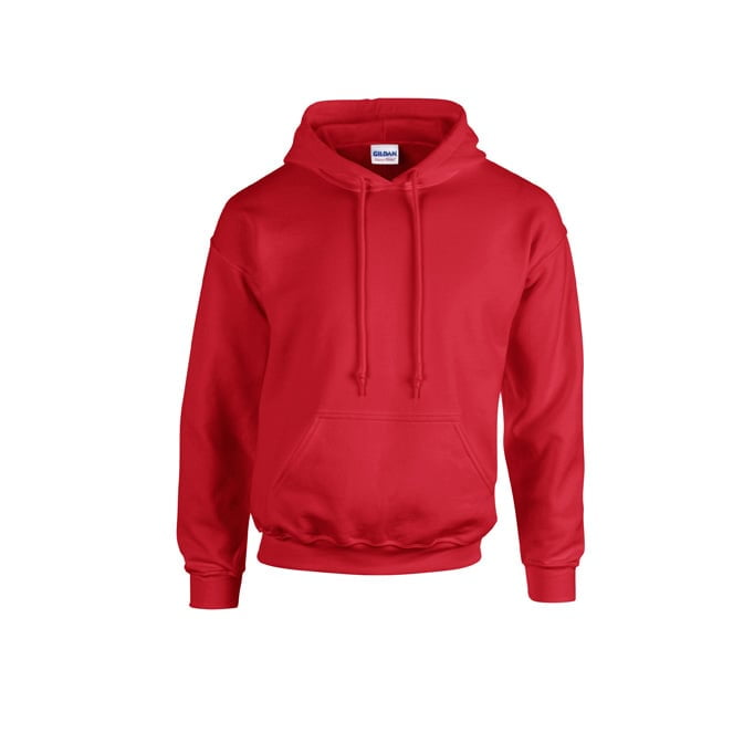 Bluzy - Bluza z kapturem Heavy Blend™ - Gildan 18500 - Red - RAVEN - koszulki reklamowe z nadrukiem, odzież reklamowa i gastronomiczna
