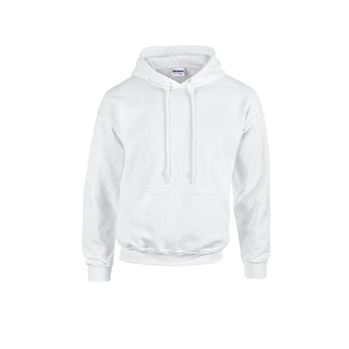 Bluzy - Bluza z kapturem Heavy Blend™ - Gildan 18500 - White - RAVEN - koszulki reklamowe z nadrukiem, odzież reklamowa i gastronomiczna